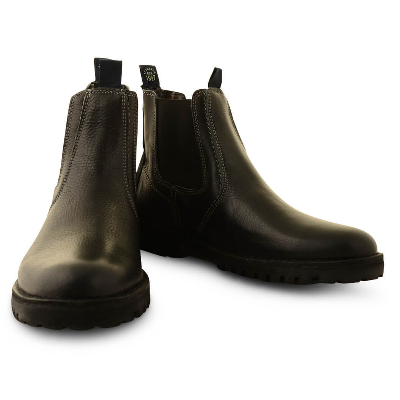 Wrangler Grinder Chelsea Boots High Top Shoes Black Leather Biker Cowboy Boot