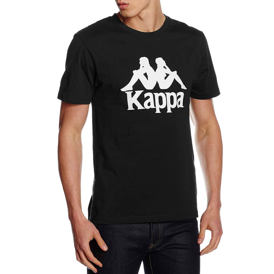 Misterio Arthur Conan Doyle Curiosidad  Kappa Estessi, Logo T-Shirt Short Sleeve Black | Jean Scene