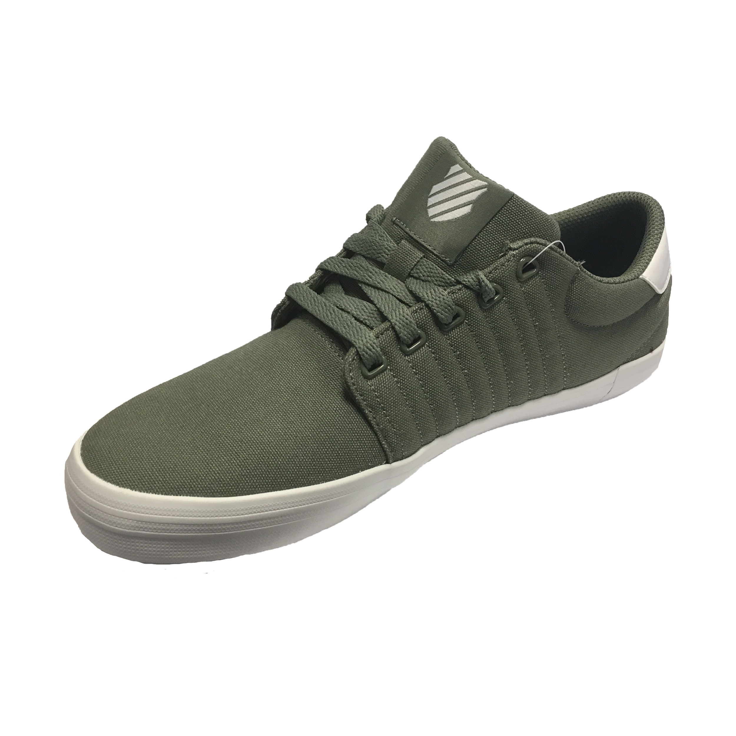 K Swiss Men S Backspin Canvas Shoes Trainers Agave Green Jean Scene