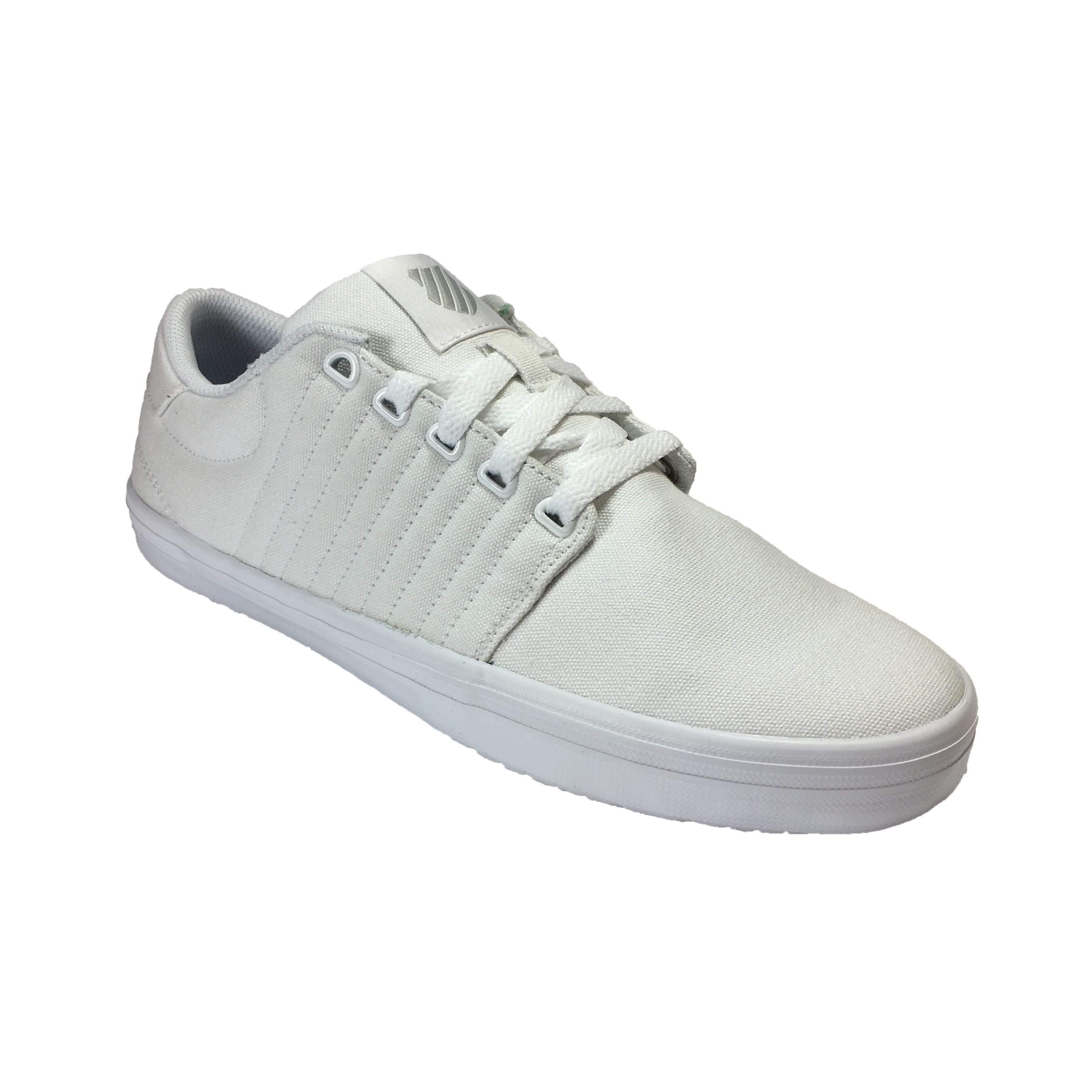 K Swiss Men S Backspin Canvas Shoes Trainers White Gull Jean Scene