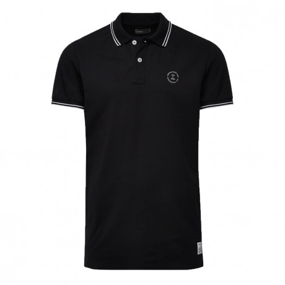 Jack & Jones Core Polo Pique T-Shirt Black | Jean Scene