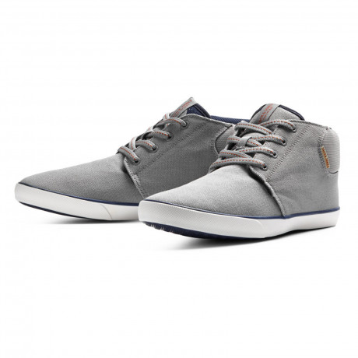 Jack & Jones Men's Mid Top Vertigo Canvas Shoes Frost Grey | Jean Scene