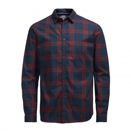 Jack & Jones Sope Check Shirt Long Sleeve Syrah | Jean Scene