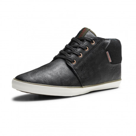 Jack & Jones Men's Mid Top Vertigo Synthetic Leather Shoes Black | Jean Scene