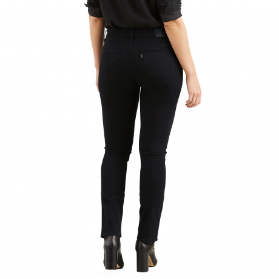 Levis 712 Women's Slim Stretch Jeans Black Sheep | Jean Scene