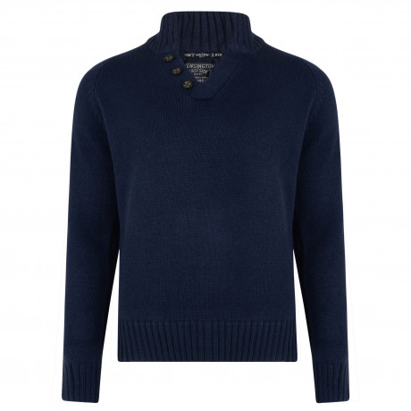 Kensington Button V Neck Wool Blend Jumper Mood | Jean Scene