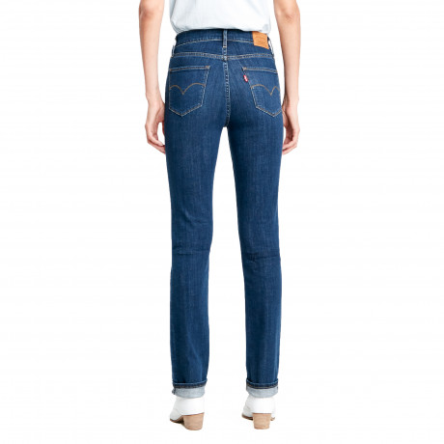 Levis 724 Women's High Rise Straight Stretch Jeans Carbon Dust T2   Jean Scene