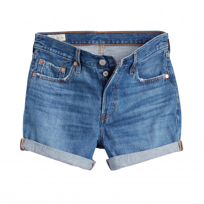 Levi's 501 Hemmed Denim Shorts Dark Blue Sansome Drifter   Jean Scene