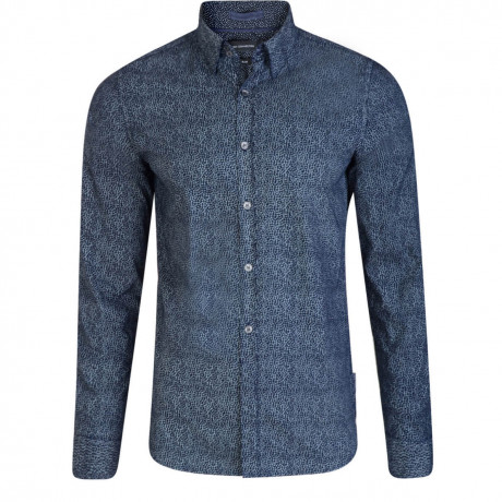 French Connection Long Sleeve Ditsy/ Snow Dot Shirt