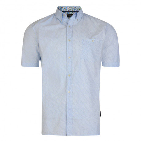 French Connection Short Sleeve Mini Floral Dot Shirt
