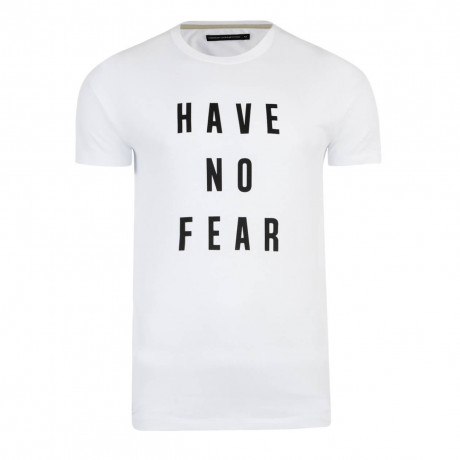 French Connection AJ Have No Fear T-shirt White Image