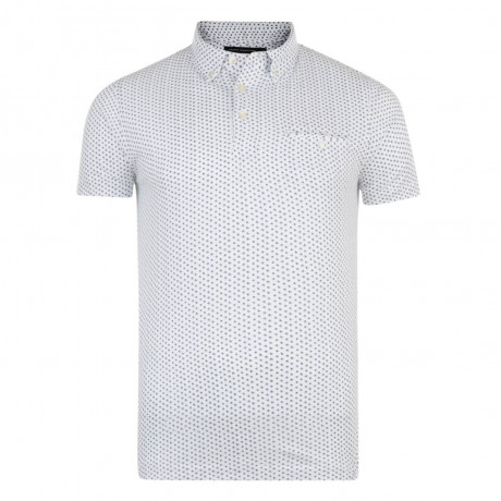 French Connection Nerine Ditsy Polo Pique T-Shirt White Image