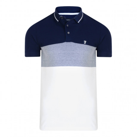 French Connection Contrast Polo Shirt Marine Blue