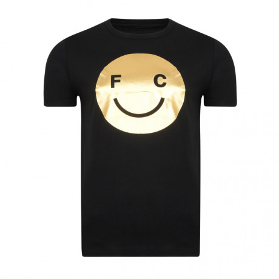 French Connection Acid Fcuk Summer T-shirt Black Gold Foil   Jean Scene