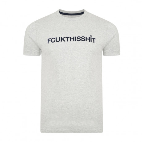 French Connection FCUK THIS SHIT Summer T-shirt Grey Melange   Jean Scene