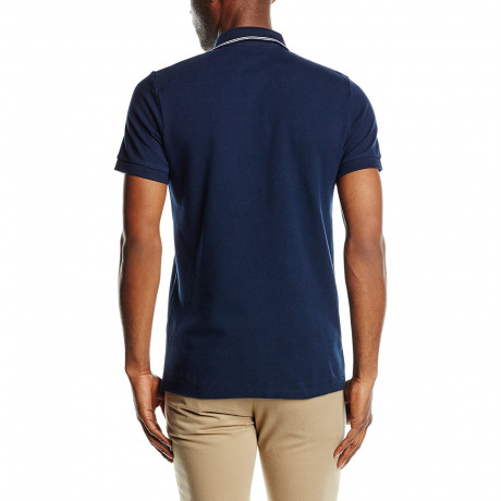 French Connection Simple Cotton F Polo Pique T-Shirt Marine Blue | Jean Scene