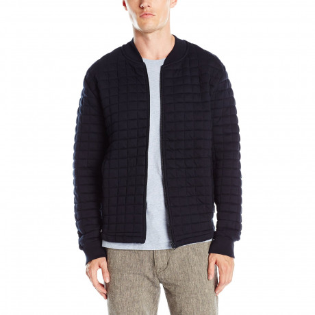 French Connection Men's 57GBA Zip Up Sweat Marine Blue   Jean Scene