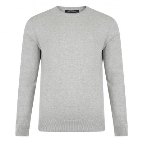 French Connection Crew Neck Cotton Jumper Grey Image
