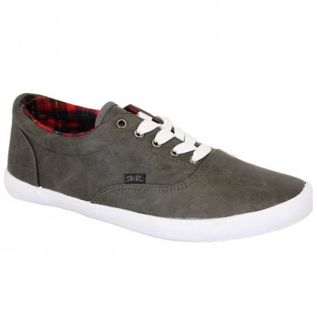 Rock & Religion Synthetic Melvin Plimsolls Charcoal