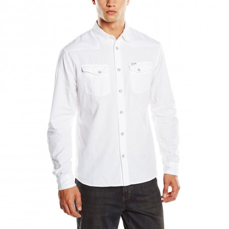 Western Heritage Denim Shirt Regular Fit White