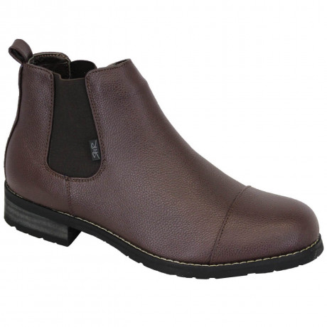 Rock & Religion Synthetic Hendrix Chelsea Boots Brown