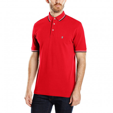 French Connection Polo Pique T-Shirt Red Image