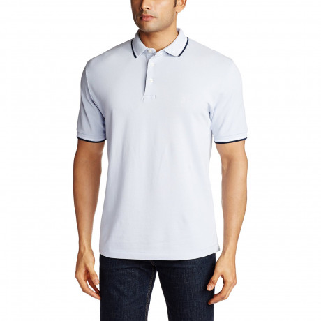 French Connection Men's Polo Shirt Sky Blue