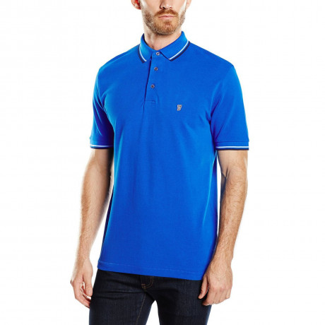 French Connection Men's Polo Shirt Shirt Blue