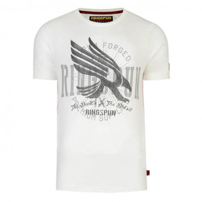 Ringspun Crew Neck Camas Print T-shirt Jetstream