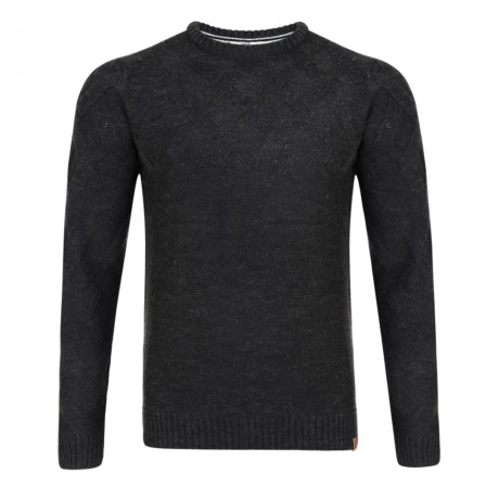 Tokyo Laundry Crew Neck Connolly Knitted Jumper Charcoal