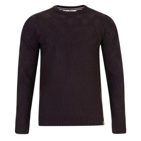 Tokyo Laundry Crew Neck Connolly Knitted Jumper Deep Aubergine