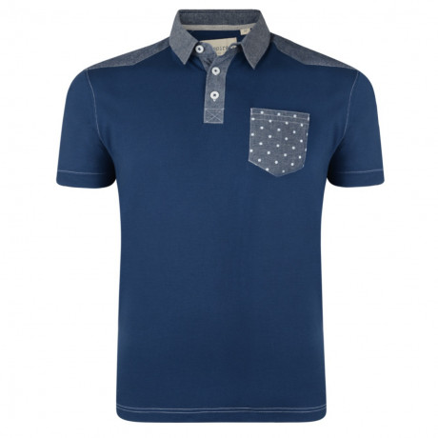 Conspiracy Polo Pique T-Shirt Navy Blue Image
