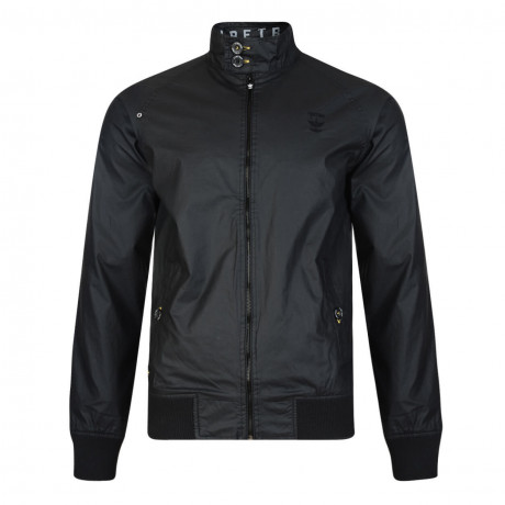 Firetrap Men's Goswell Cotton Harrington Field Jacket Black