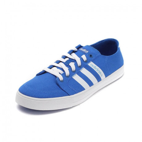 adidas Vlneo Bball Lo Court Canvas Trainers Blue Image