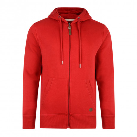Smith & Jones Kent Full Zip Hoodie Red