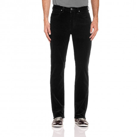 Lee Brooklyn Straight Leg Stretch Cords Black Image