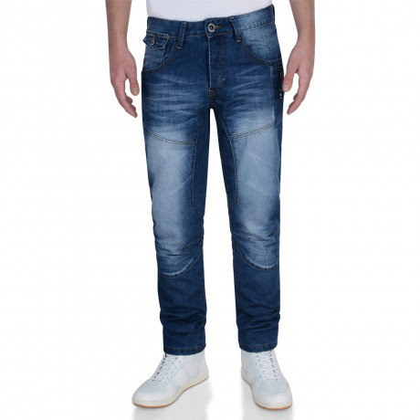 Firetrap Slim Fit Denim Jeans Stone Wash Blue Lowth Image