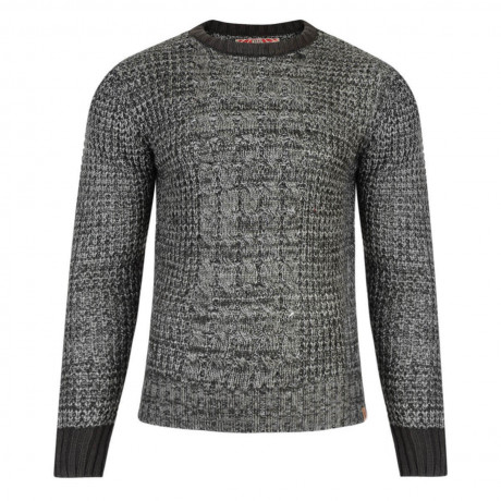 Tokyo Laundry Crew Neck Ludo Knitted Jumper Raven Grey