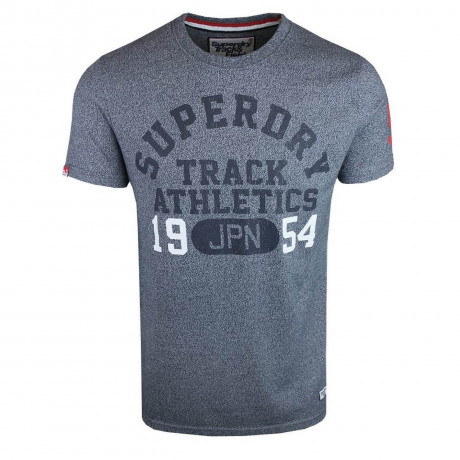 Superdry Crew Neck Print Trackster T-shirt State Blue