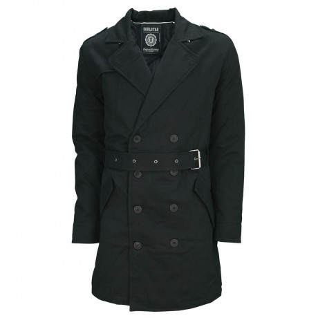 Soul Star Columbia Smart Over Coat Mac Jacket Black