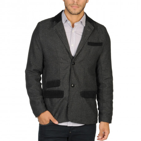 Soul Star Fashion Blazer Jacket Charcoal Grey Image