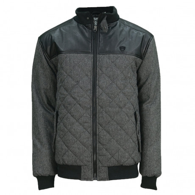 Soul Star Men's Helena Padded Short Quilt Jacket Black