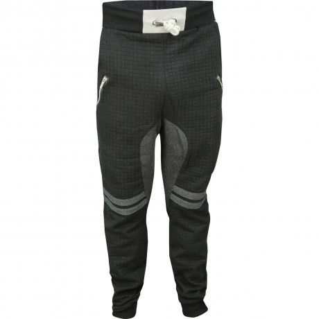 Soul Star Fleece Sweat Pants Furrow Bottoms Black