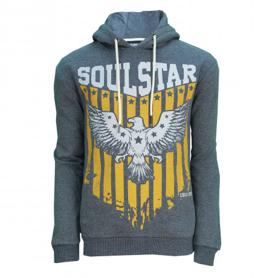 Soul Star Overhead Eagle Logo Hoodie Navy