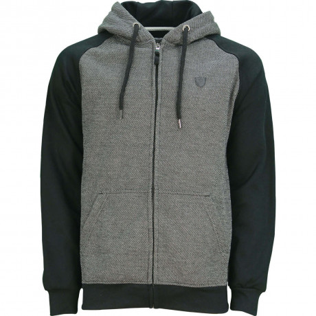 Soul Star Casual  Zip Up Otto Hooded Sweatshirt Black