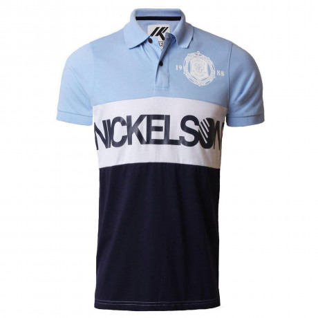 Nickelson Men's Limehouse Polo Shirt Placid Blue