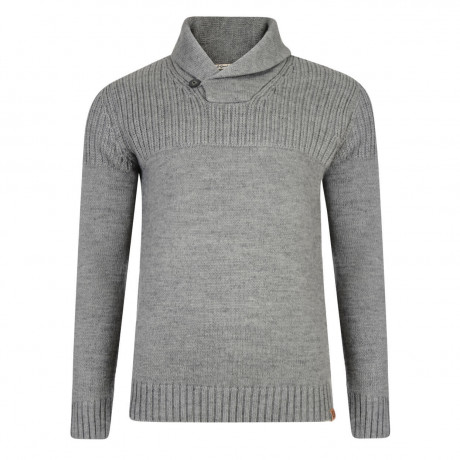 Tokyo Laundry Shawl Neck Perico Knitted Jumper Mid Grey