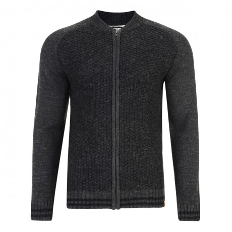Tokyo Laundry Pitcher Knitted Zip Cardigan Charcoal