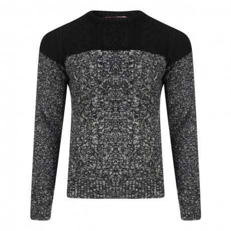 Tokyo Laundry Crew Neck Stuey Knitted Jumper Black