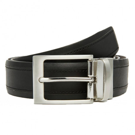 French Connection Formal Reversible Belt Black Bear